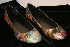 Famous Painting Flats Classic Masterpiece Flats by LeadFootLucy, $50.00