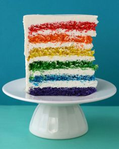 "October 3rd Mean Girls Party - ""I wish I could bake a cake filled with rainbows and smiles and everyone would eat and be happy."" Rainbow Cake Recipe"