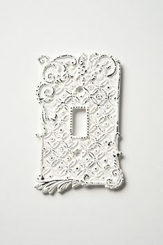 Tin Roof Switchplates, Single #anthropologie - we need a light switch cover for the bedroom...and I think I found one!