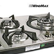 Windmax Hot 34″ Stainless Steel Built-in 5 Burner Stove Gas Hob Cooktop Cooker Cook Tops