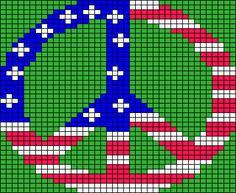 Peace Symbol Knitting Chart