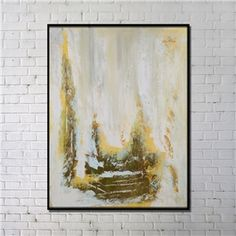 Contemporary Wall Art Stone Steps Abstract Print with Black Frame 36