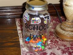 at the end of the year fill a jar with candy, one for each day until the summer ends. Let the child eat one each day. Gives a nice visual.