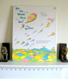 Oh the Places You'll Go!  A perfect gift for a baby shower... I've sold two so far!!! I'd love to make one for you!