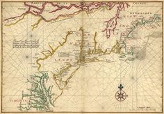 Map of New Netherland, Virginia, and New England  by Joan Vinckeboons (1617–70) was a Dutch cartographer and engraver born into a family of artists of Flemish origin.
