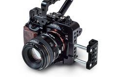 CUBECAGE A7s Camera Rig, Camera Gear, Camera Techniques, Foto Fun, Movie Projector, Camera Equipment, Photography Equipment, Filmmaking, Binoculars