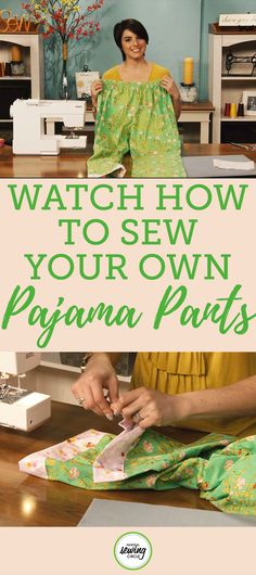 There's nothing better than relaxing on a couch in a comfy pair of pajama pants. In this tutorial, Aurora Sisneros shows you how to make pajama pants with an elastic waistband and cute contrasting cuffs. Sewing Hacks, Sewing Tutorials, Sewing Crafts, Sewing Tips, Learn Sewing, Sewing Art, Sewing Blogs, Sewing Basics, Love Sewing