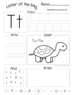 Letter of the Day Worksheet