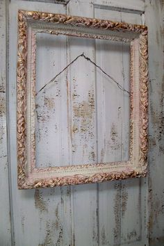 large ornate frame hand painted pink white and by anitasperodesign 11000