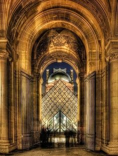 Louvre at night, Paris