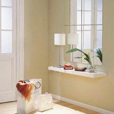 Bricolage e Decoração: Decorar um Hall com pouco espaço aproveitando a Parede!
