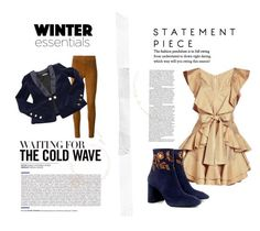 """""""Cognac and Navy"""" by bonniebluebonnet on Polyvore featuring STOULS, Balmain, Zimmermann and Eugenia Kim"""