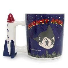 Astro Boy Mighty Atom Mug Cup Night Sky Rocket Handle Osamu Tezuka