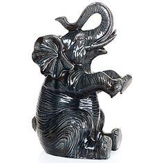 Z Gallerie - Ceramic Elephant. For bookcase Ceramic Elephant, Elephant Love, Elephant Art, Elephant Gifts, Decorative Accessories, Decorative Items, Sculptures, Lion Sculpture, Elephant Sanctuary
