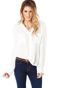ShopSosie Style : Chambers Blouse in White