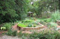 The sensory garden at the Audio-Reader building on the University of Kansas campus