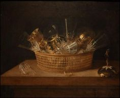 Corbeille de verres, Sebastian Stoskopff, 1644
