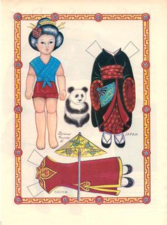 Stereotypical Asian Paper Doll set used to bring awareness of the assumptions we place on what defines a person who identifies as AAPI