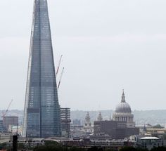 The Shard, towering over St Paul's Cathedral. Photograph: Kevin Coombs/Reuters