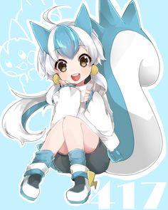 Tags: Fanart, Pokémon, Nintendo, Pachirisu, GAME FREAK, PNG Conversion, Takeshima (nia)