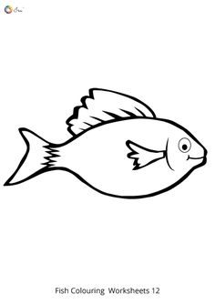Free Downloadable Fish Worksheets for kids. Fish Coloring Page, Colouring Pages, Coloring Sheets, Worksheets For Kids, Parenting, Snoopy, Names, Chart, Stickers