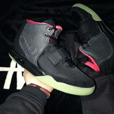 on sale 0b9ce 4895a nike air yeezy 2 nrg black solar red 508214-006