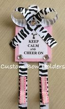 Hair Bow Holder - Cheer Bow Holder, Keep Calm And Cheer - Any Color Trim