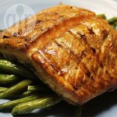 Barbecued salmon with soy and brown sugar marinade @ allrecipes.co.uk