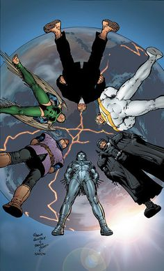 The Authority - A team of antiheroes, crazy science, mindblowing concepts and Warren Ellis-ness. Loved all Authority's runs.