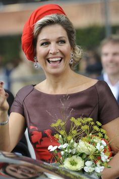 Queen Máxima of the Netherlands opens the new Markthal in Rotterdam on October 1st, 2014