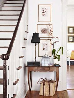 Classic entryway. #decorating