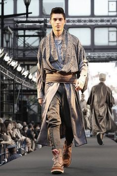 Trying to secure the kimono's place in contemporary fashion: Mitasu designers, Japan.