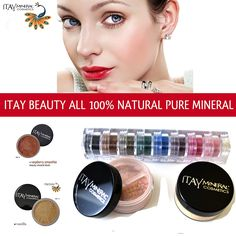 Itay Beauty Mineral Cosmetics Eye Shadow Shimmer 8 Stack: Best 4 Brown Eyes   Mineral Foundation Color: Mf-2 Vanilla   Mineral Blush Color: Mb-6 - Raspberry Smoothie *** Find out more about the great product at the image link.