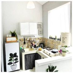 Ideas for kitchen pantry decor small spaces Kitchen Corner, Kitchen Sets, Kitchen Small, Small Kitchen Renovations, Kitchen Remodel, Kitchen Interior, Kitchen Decor, White Kitchen Appliances, Small Appliances