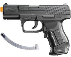 Walther P99 Special Operations airsoft gun by Walther. $29.95. The Walther P99 full-/semi-auto electric airsoft gun is a 1:1 replica of the P99 firearm. This is a truly awesome airsoft gun. Just one flick of a switch, and you move from semi-auto to full. You can unload an entire magazine in one trigger squeeze! No need to re-cock after each shot, since this quality airgun uses 4 AAA batteries (not included).Kit includes: black P99 pistol, 2 15-shot clips, starte...
