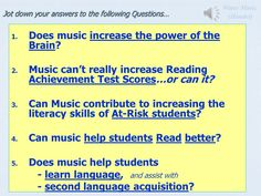 Surprising Insights: Literacy and Music? Music Across the Curriculum Darlene M. Michener, Ph.D. - CSULA Holly A. Reed, M.Ed., Vista School District.