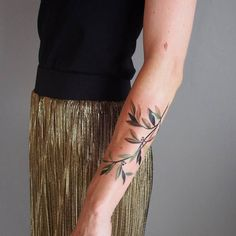 Colored+Olive+Branch+Tattoo+by+sashaunisex