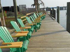Beach chairs at De Lazy Lizard.