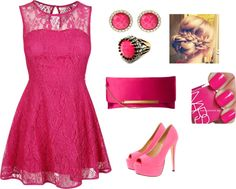 """""""Pink world"""" by famous-adelisa ❤ liked on Polyvore"""