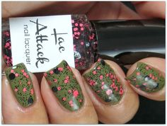 @Lac Attack Pop (glitter topcoat) from the Cell Block Tango Fall Collection 2013, over Zoya Dree