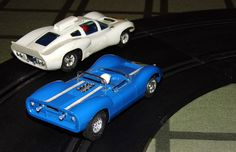 Vintage Strombecker Slot Car Race Set Sold by Sears, Roebuck and Company, 1/32 Scale, Copyright 1966