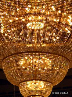 Gold and Jewels Chandelier Chandelier Bougie, Chandeliers, Gold Chandelier, Chandelier Lighting, Luxury Chandelier, Or Noir, Shades Of Gold, Mellow Yellow, Beautiful Lights