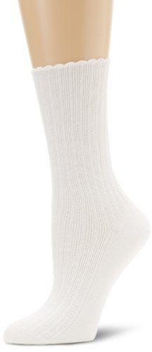 HUE Women's Scalloped Pointelle Sock HUE. $5.33. Machine Wash. Scalloped top. Sock. 51% Pima Cotton/27% Nylon/22% Other Cotton