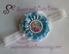 Anna Elsa or Anna & Elsa Hair Bow Attached to by SweetandCuteBows, $10.00