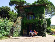 Villa Le Barone, Panzano in Chianti, Tuscany we stayed right here for several days in 2009  This was our room and I've sat at that table.