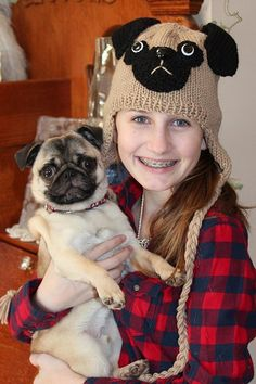 Pug hat with earflaps