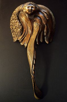 Bronze Angel door handle. ~Door Dreams~