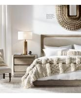 RH Modern's Cylindrical Column Table Lamp:Our understated column lamp layers with other fixtures in the room while making a sculptural statement of its own. Guest Bedroom Decor, Cozy Bedroom, Bedroom Ideas, Bedroom Inspo, Bedroom Inspiration, Design Inspiration, Bedroom Corner, Metal Table Lamps, House Beds