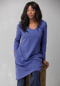 """Solid-colored and print """"Gunnel"""" dress in eco-cotton/spandex – Size XXL – GUDRUN SJÖDÉN – Webshop, mail order and boutiques 