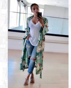 Zara Kimono Robe- ethnic floral